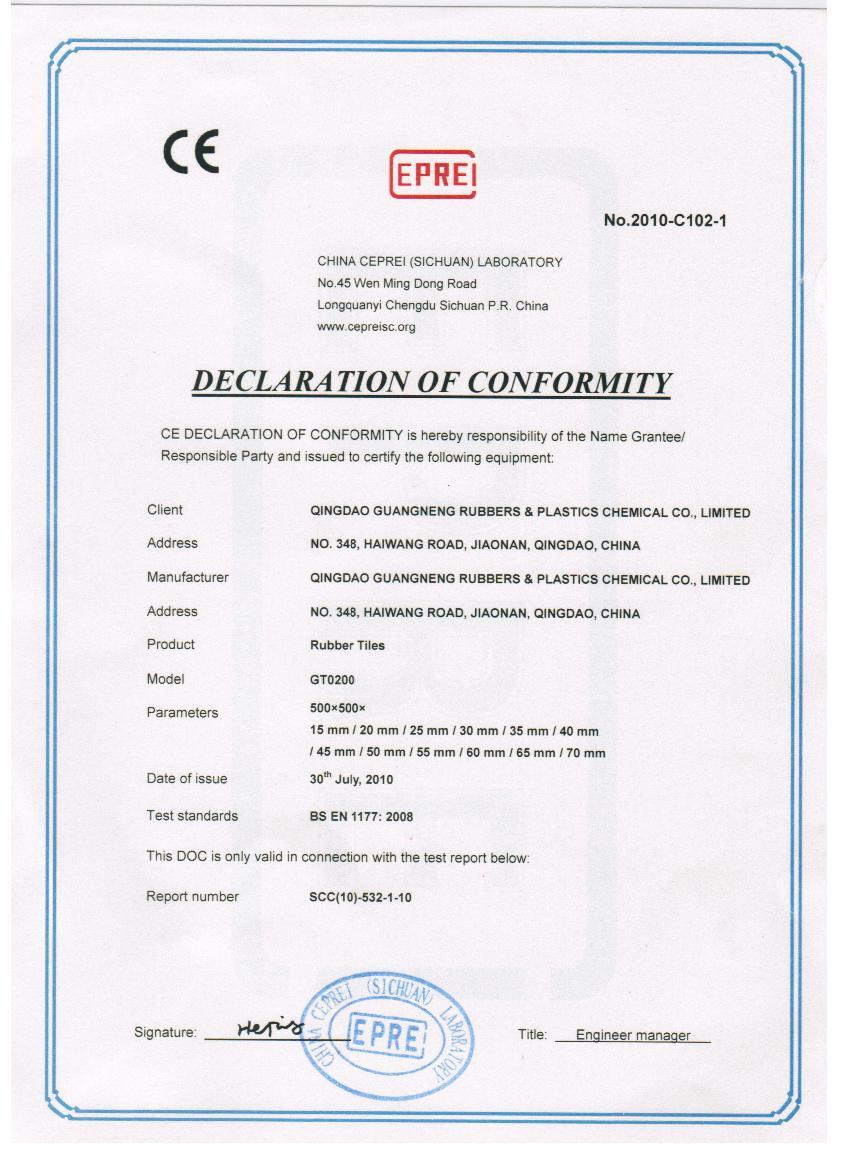 产品CE认证范本